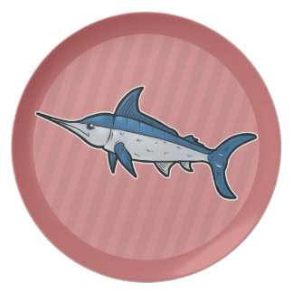 Blue Marlin Party Plates