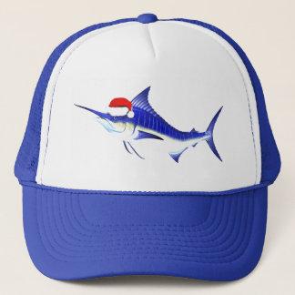 Blue Marlin Santa Claus Trucker Hat