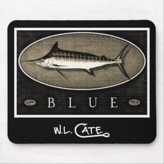 Blue Marlin Vintage Black & White Mouse Pads