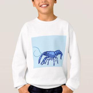 Blue Marron Sketch Sweatshirt