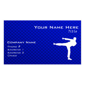 Blue Martial Arts Pack Of Standard Business Cards