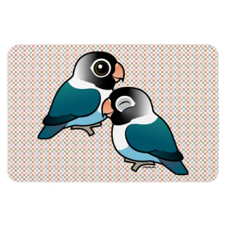 Blue Masked Lovebird Adorable Pair Rectangular Photo Magnet