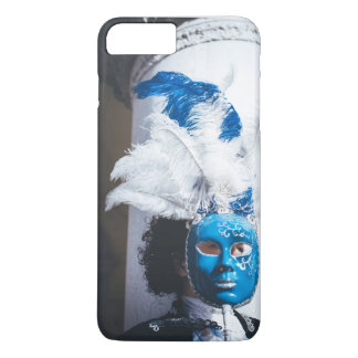 Blue masked woman in Venice carnival iPhone 8 Plus/7 Plus Case