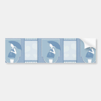 blue maternity bumper sticker