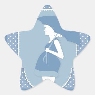 blue maternity star sticker