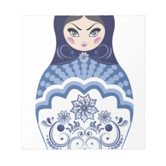 Blue Matryoshka Doll Notepad