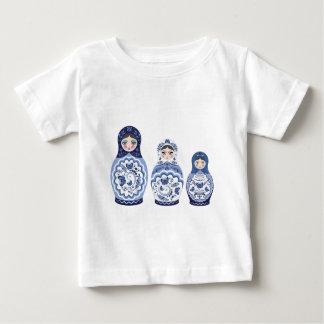 Blue Matryoshka Dolls Baby T-Shirt