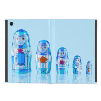 Blue Matryoshka Russian Dolls iPad Mini Case