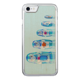 Blue Matryoshka Russian Dolls iPhone 6 Slim Carved iPhone 7 Case