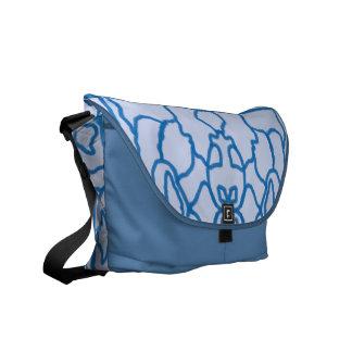 Blue maze commuter bag