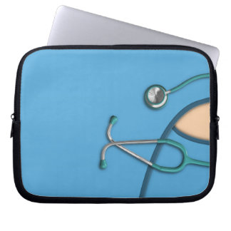 Blue Medical Scrubs Laptop Sleeve