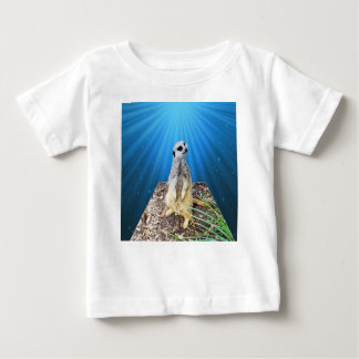 Blue Meerkat Night,_ Baby T-Shirt