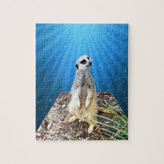 Blue Meerkat Night,_ Jigsaw Puzzle