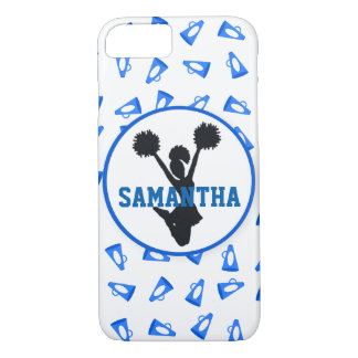 Blue Megaphones and Cheerleader Personalized iPhone 8/7 Case