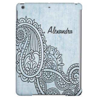 Blue Mehndi Motif Savvy iPad Air Case