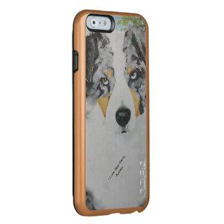 Blue Merle Australian Shepherd Dog Portrait Incipio Feather® Shine iPhone 6 Case
