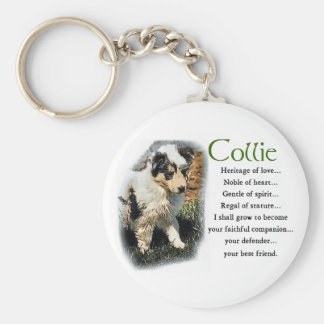 Blue Merle Collie Gifts Basic Round Button Key Ring
