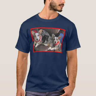 Blue Merle Corgi Buddies T-Shirt