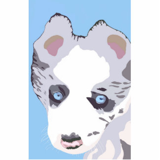 Blue Merle puppy Photo Sculpture Magnet
