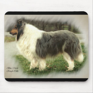 Blue Merle Rough Collie Art Gifts Mouse Mats