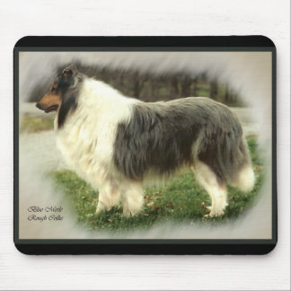 Blue Merle Rough Collie Gifts Mouse Pads