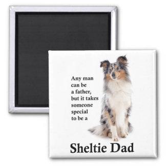 Blue Merle Sheltie Dad Magnet