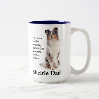 Blue Merle Sheltie Dad Mug