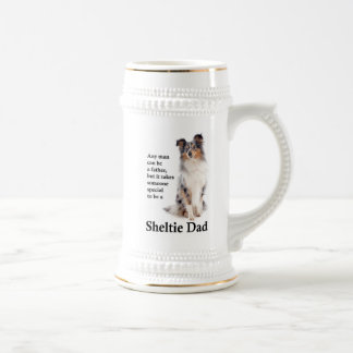 Blue Merle Sheltie Dad Stein