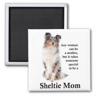 Blue Merle Sheltie Mom Magnet