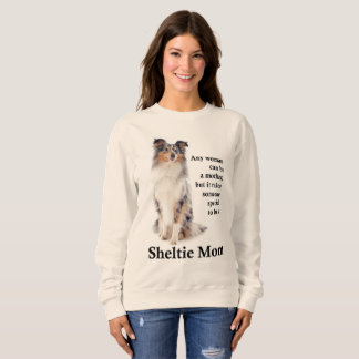 Blue Merle Sheltie Mom Sweatshirt