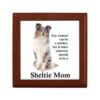 Blue Merle Sheltie Mom Tile Box
