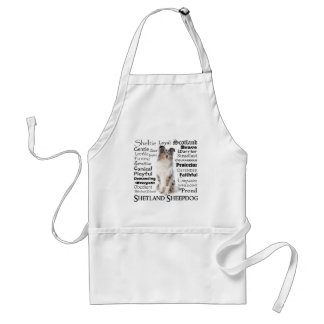 Blue Merle Sheltie Traits Apron