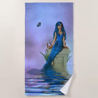 Blue Mermaid Beach Towel