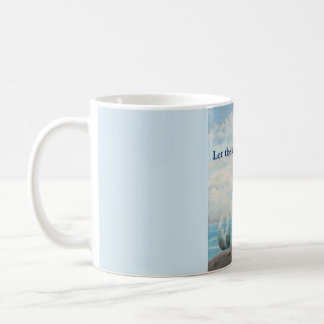 Blue mermaid coffee mug cup