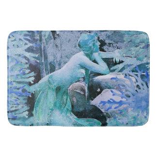 Blue Mermaid Fantasy Bath Mat