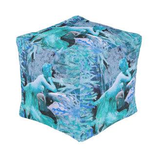 Blue Mermaid Fantasy Pouf