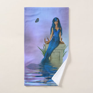 Blue Mermaid Hand Towel