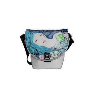 Blue Mermaid Messenger Bag