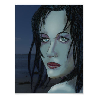 Blue mermaid photograph