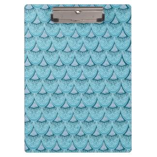 Blue Mermaid scales ,boho,hippie,bohemian Clipboard