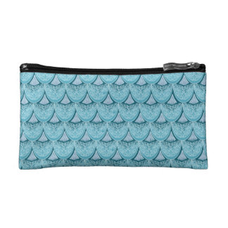 Blue Mermaid scales ,boho,hippie,bohemian Cosmetic Bag