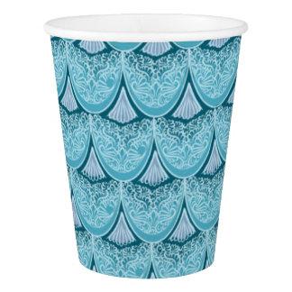 Blue Mermaid scales ,boho,hippie,bohemian Paper Cup
