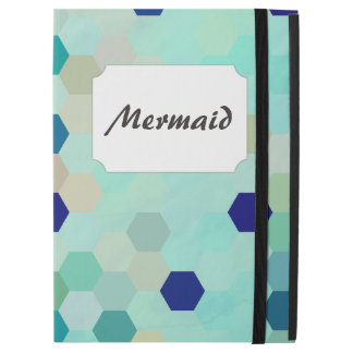 Blue Mermaid Scales Colorful Octagon Multicolored