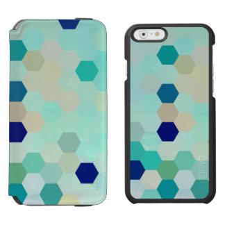 Blue Mermaid Scales Colorful Octagon Multicolored Incipio Watson™ iPhone 6 Wallet Case