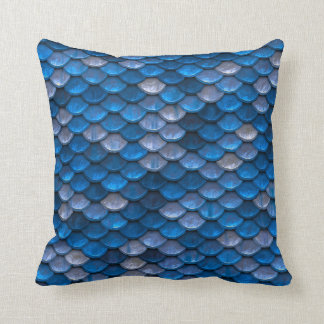 Blue Mermaid Scales Cushion