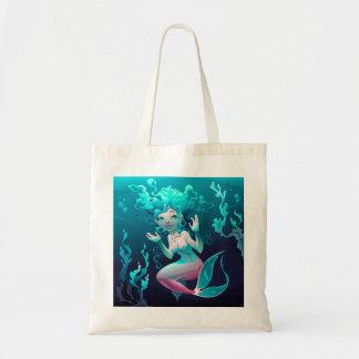 Blue Mermaid Swimming in the Ocean Tote Bag