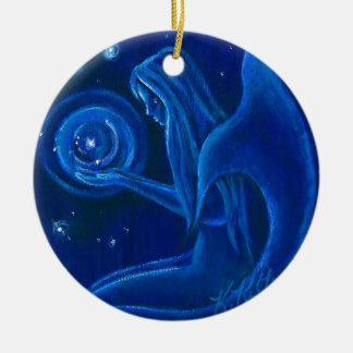 Blue Mermaid Universe Christmas Ornament
