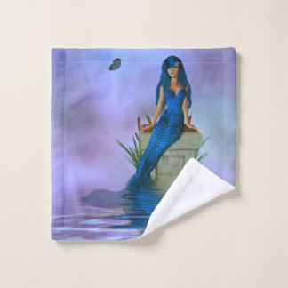 Blue Mermaid Wash Cloth