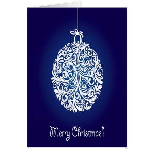 Blue Merry Christmas Ball Cards