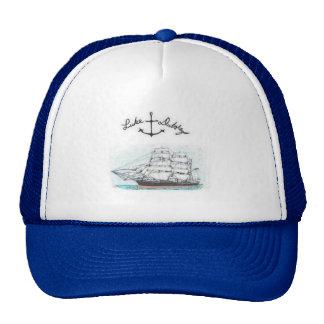 Blue mesh trucker hat